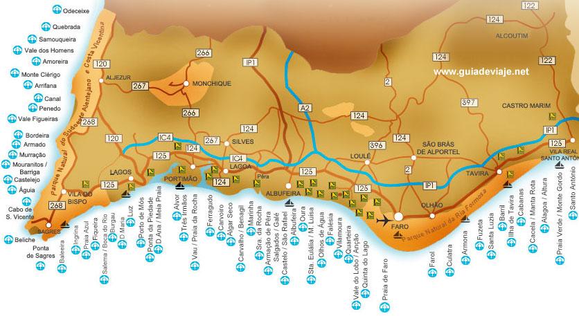Mapa Playas Algarve  My blog